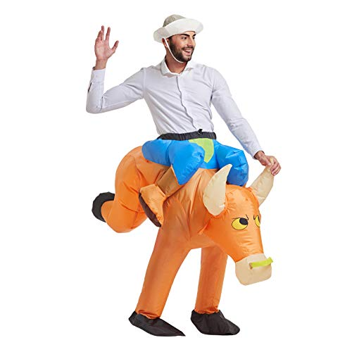 TOLOCO Inflatable Costume | Halloween Animal Cosplay Costumes for Adult | Blow Up Costume,One Size Fits Most (Ox)
