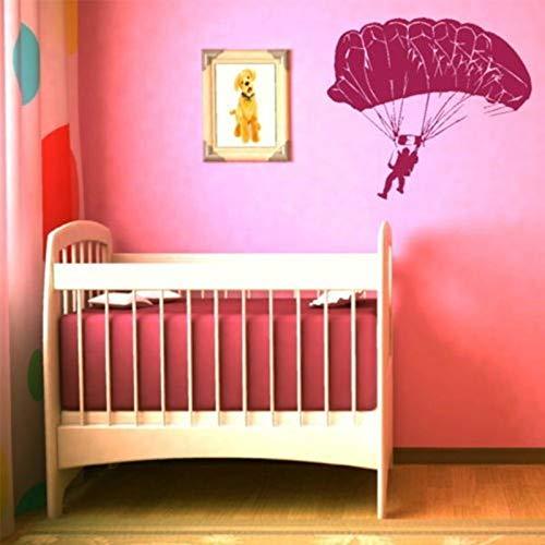 AKmene Etiqueta engomada de la Pared de los Deportes del paracaídas calcomanía de la Pared del Vinilo Pintura de la Pared decoración del hogar 84x84cm 84x84cm