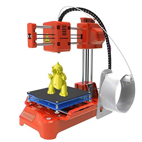 EasyThreed 3D-Drucker für Kinder Mini-Desktop-3D-Drucker 100 x 100 x 100 mm Druckgröße Kein beheiztes Bett EIN-Tasten-Druck mit TF-Karte PLA-Beispielfilament für die Haushaltsbildung von Anfängern