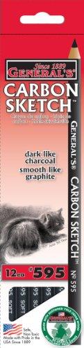 General's Carbon Sketch Pencil, Box of 1 Dozen Pencils (595)