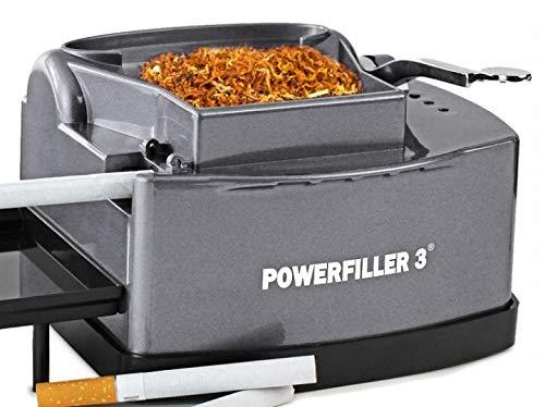 Powerfiller 3 | Tubeuse électrique | Machine à tuber sans entonnoir | Machine automatique à cigarettes (Titane)