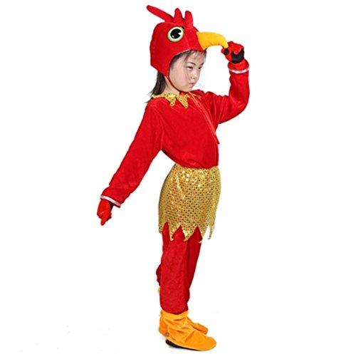 Disfraces de animales para niños Disfraz de pijama con capucha y unisex (Gallo, XL (para niños de 135-150 cm de altura))