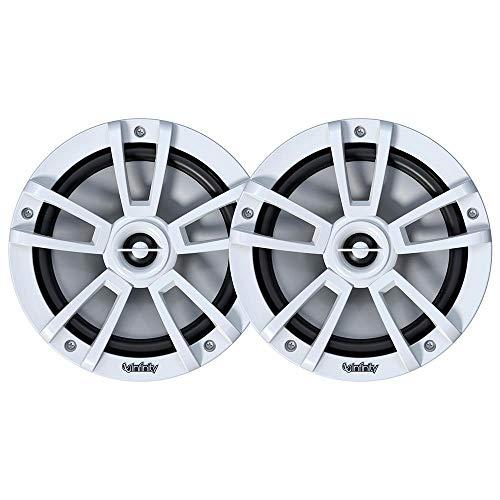 "Infinity Mobile Marine Performance Series 8"" 2 way speaker with RGB lighting - White"