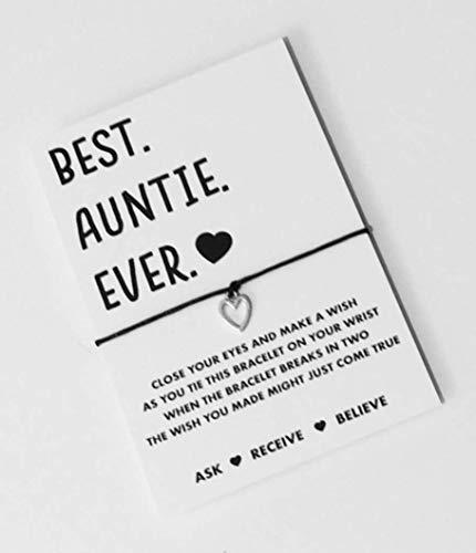 Auntie wish string bracelet. Auntie Gift.