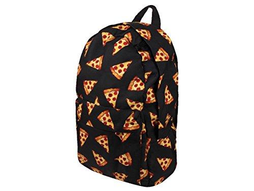 Rucksack Emojicon Print Look Kinder Schulrucksack Freizeit Tasche Schulranzen von Alsino, Variante wählen:Ruck-a022 Pizza