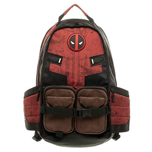 Damdos - Mochilas para hombre con diseño de Deadpool, para mochila de viaje