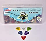 Alice AP600E Guitar Plectrums Pick Of Various Thickness, 600 Pieces