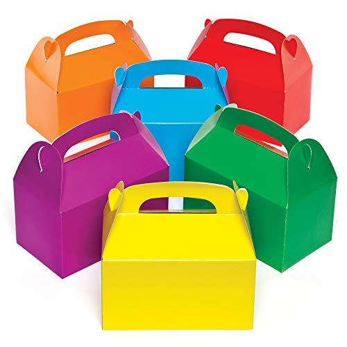 Cajas de regalo de colores que los niños pueden adornar, decorar y llenar de obsequios (pack de 6).