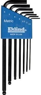 EKLIND 13607 Ball-Hex-L Key allen wrench - 7pc set Metric MM sizes 1.5-6 Long series