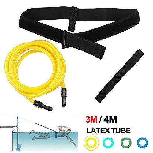 FOOING Cinturón de Natación, Cinturón Resistencia Correa Cuerda Entrenamiento Cuerda Cadera Natación Cinturón Seguridad para Adultos y Niños