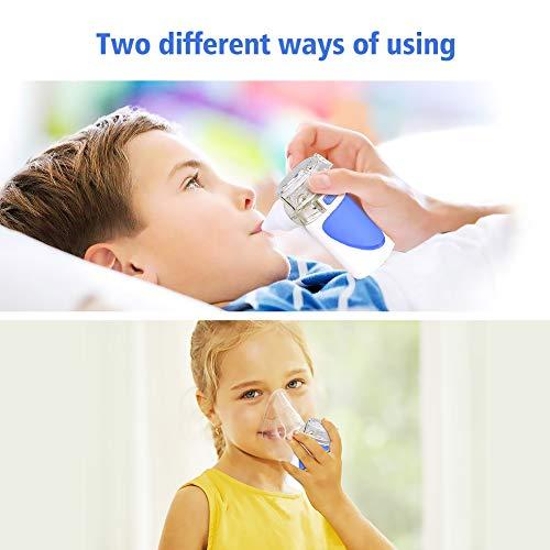41owJJbPTnL - NWOUIIAY Nebulizador Portátil Inhalador Eléctrico Silencioso Cable USB Recargable para Adultos y Niños