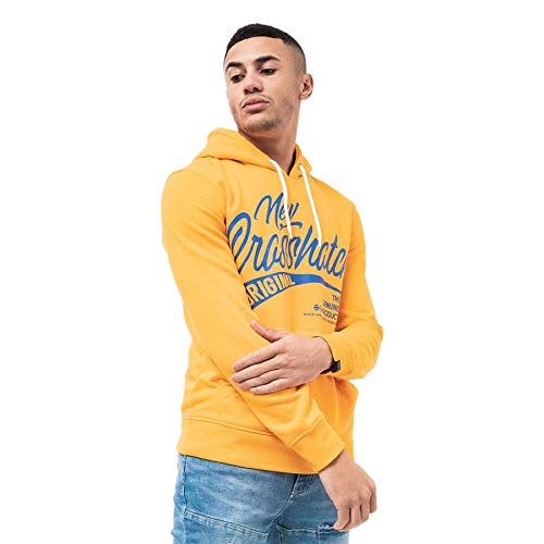 CrossHatch Mens Hoodie Clothing Sweatshirt Hooded Jumper Top Pullover Sealasp(S,Yellow)
