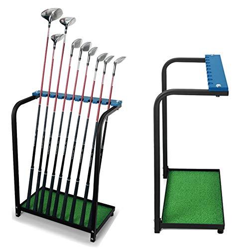 Kofull Golfschläger-Ständer, Aufbewahrung für Golfschläger-Sets, Golf-Putter-Ständer, strapazierfähiges Metall, 9 Schläger-Regal, Organizer-Ausrüstung