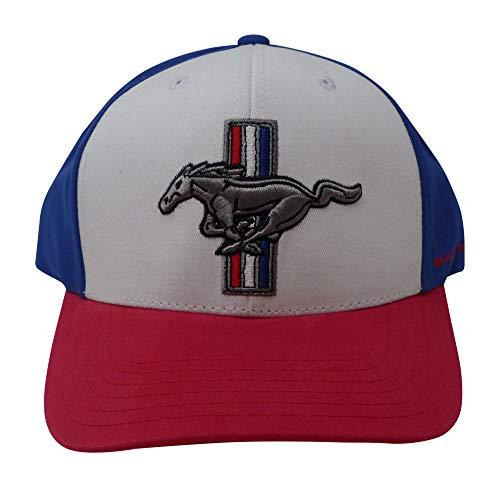 Mustang Ford Baseballkappe für Herren, Rot / Weiß / Blau