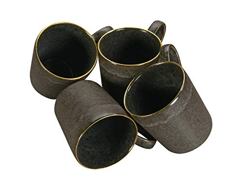 Creatable, 20643, Serie Gold Stone, Geschirrset, Kaffeebecher 4 teilig, Steinzeug