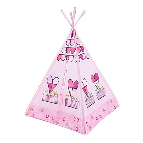 YASE-king Children Play Tent Pink Indian Children's Tent Baby Play Room Marine Ball Toy Pool Teepee Tent Room Decoration With Carry Bag Toys for Girls/Boys Kids (Color : Pink, Size : As shown)