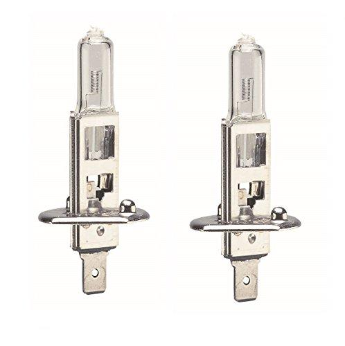 C63® paar H1 lampen 12v 55w Premium halogeenkoplampen. Witte Plasma Xenon HID Effect