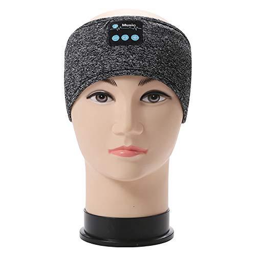 Bluetooth Stirnband Waschbare verstellbare Kabellose Sport Stirnband Schlafkopfhörer integrierte Lautsprecher für Training, Joggen, Yoga (Color : Gray)