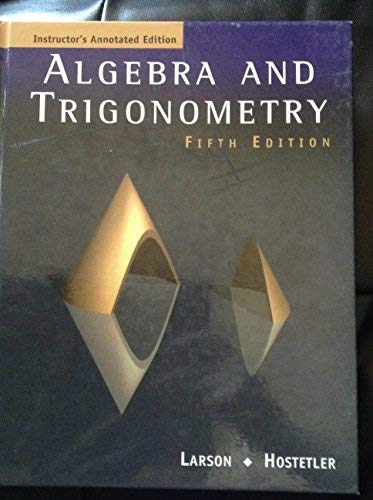 Algebra Trig Iae 5ed