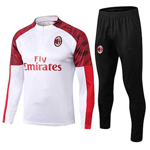 HQIUYI Autumn and Winter Football Training Suits Long Sleeve Suits for Boys and Girls Real Madrid Barcelona Jacket AC Milan Football Clothes Sweatshirt Suit