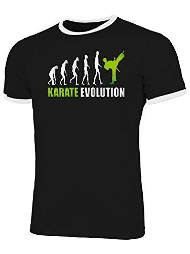 Karate Evolution 2028 Kampfsport Shirt Tshirt Fanartikel Fanshirt Männer Sportbekleidung Herren Ringer T-Shirts Schwarz Weiss Aufdruck Grün XL