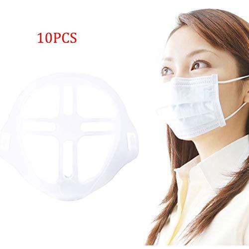 WWJJLL 10PCS 3D Face-Halter, Anti-Boring, wasserdicht, bequem, atmungsaktiv, hautfreundlich und Non-Stick Lippenstift-Halter, Innenkissen Support Tool,1