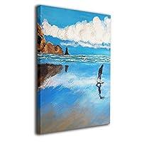 Skydoor J パネル ポスターフレーム 海 ビーチ 油絵 インテリア アートフレーム 額 モダン 壁掛けポスタ アート 壁アート 壁掛け絵画 装飾画 かべ飾り 50×40