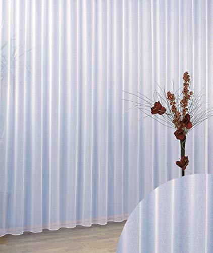 heimtexland Gardinen Vorhang Store Webstore halbtransparent mit Kräuselband und Bleibandabschluss HxB 180x300 cm Typ96