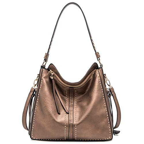 ♥ CONCEALED CARRY WEAPON: Righty or Lefty Friendly. Double zippered center pocket to hold your gun in holster safe and secure incase you need it.The opening for the gun compartment Size:7.25'' (handgun holster not included). ♥VEGAN LEATHER PURSE:Dura...