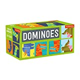 Mudpuppy Dinosaur Dominoes – Giant Dominoes Set for Kids, Matching Game for Ages 3-8, 2+ Players – Includes 28 Jumbo Double-Sided Dominoes, Makes a Great Gift Idea, Multicolor