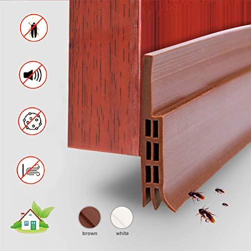 Selbstklebende Tür Türdichtung - YIAHIC Dichtungsstreifen Zugluftstopper gegen Insekt Ersatzdichtung Wetterfest Blocker Schalldichtung Silikon Türstopper weiß 100 * 5cm (Brown)