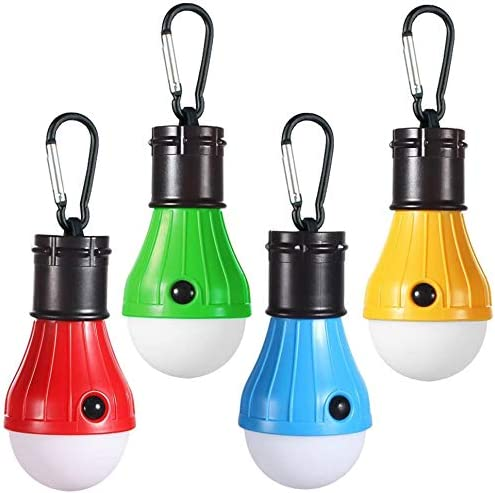 Doukey LED Camping Light [4 Pack] Portable LED Tent Lantern 4 Modes for Backpacking Camping Hiking Fishing Emergency Light Battery Powered Lamp for Outdoor and Indoor