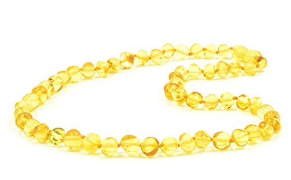 ペッカディロ愛する条件付きBaltic amberネックレス大人用?–?18?–?21.6インチ?–?amberjewelry?–?MadeからAuthentic Baltic Amberビーズ?–?レモン色 21.6 inch