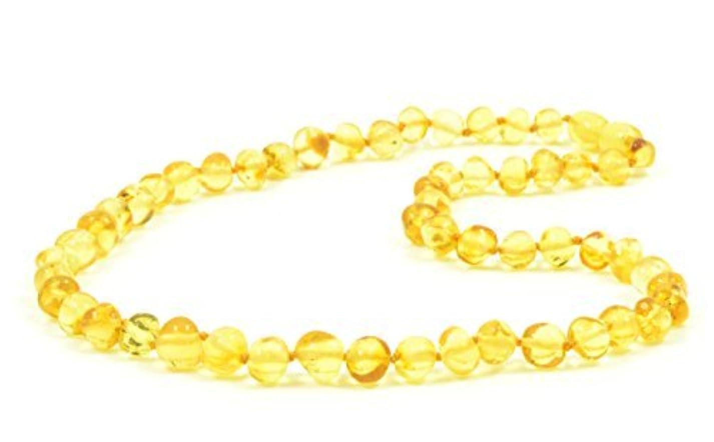海岸バランスバナナBaltic amberネックレス大人用?–?18?–?21.6インチ?–?amberjewelry?–?MadeからAuthentic Baltic Amberビーズ?–?レモン色 21.6 inch