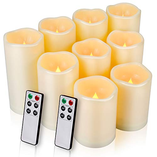 Flameless Candles, LED Candles Outdoor Candles Waterproof Candles(D: 3