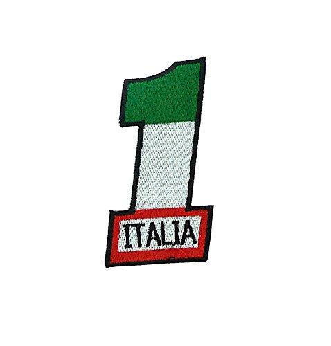 Patch Ecusson-gesticktem zum Aufbügeln Backpack Biker Flagge Italien Italienisch 1Rennen