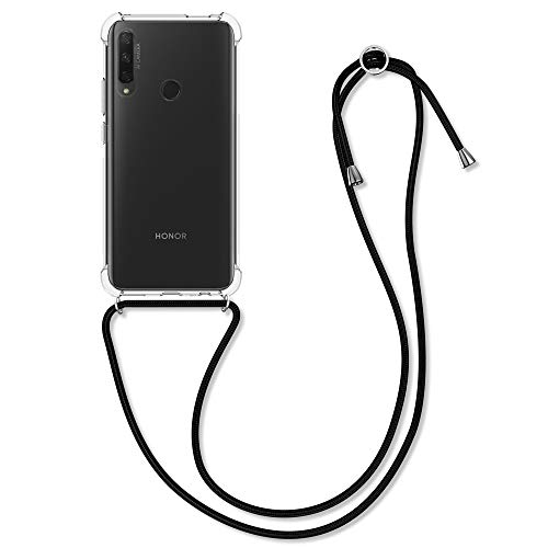 kwmobile Schutzhülle kompatibel mit Honor 9X (EU-Version) - Hülle mit Kordel zum Umhängen - Silikon Handy Hülle Transparent