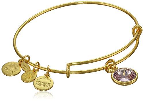 Alex and Ani 'Bangle Bar' June Imitation Birthstone Gold-Tone Expandable Bracelet