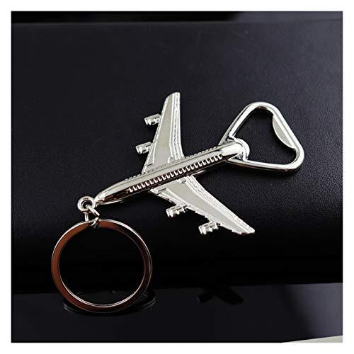 JSJJAER Schlüsselbund Air-Flugzeug-Modell Schlüsselanhänger Flaschenöffner-Korkenzieher Männer Geschenk Keychain Kreativität Bier-Wein-Öffner-Schlüsselring Perfektes Accessoire (Color : 1)