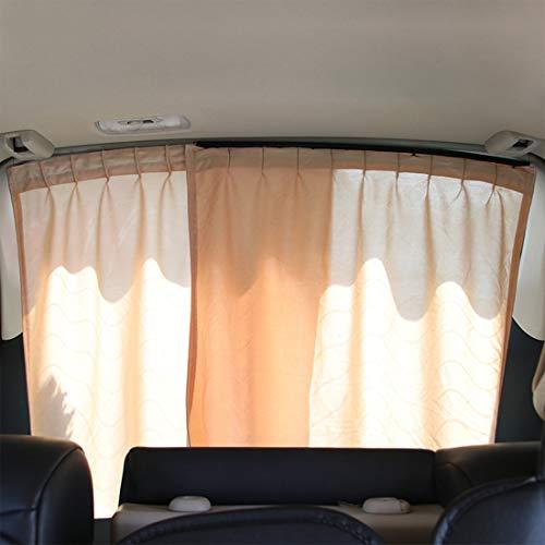 Andux Auto Heckscheibenvorhang Sonnenschutz UV Schutz EIN Paar HCZYL-01 (Beige) Mehrweg