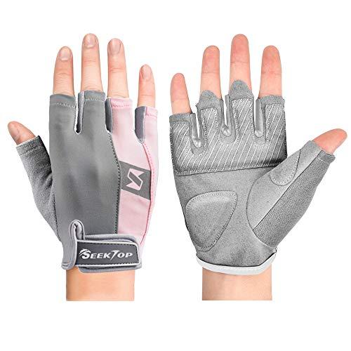 Seektop Fitness Handschuhe, Trainingshandschuhe für Damen und Herren, Kompletter Handflächenschutz für Gewichtheben, Fitness, Crossfit Training, Klimmzüge, Belüftete & rutschfest