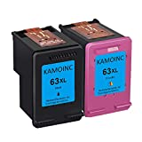 KAMOINC Remanufactured Ink Cartridge Replacement for HP 63 63XL for Envy 4520 4512 4513 4516 OfficeJet 3830 5255 5258 DeskJet 1112 1110 3630 3632 3634 2130 2132 (1 Black 1 Tri-Color)