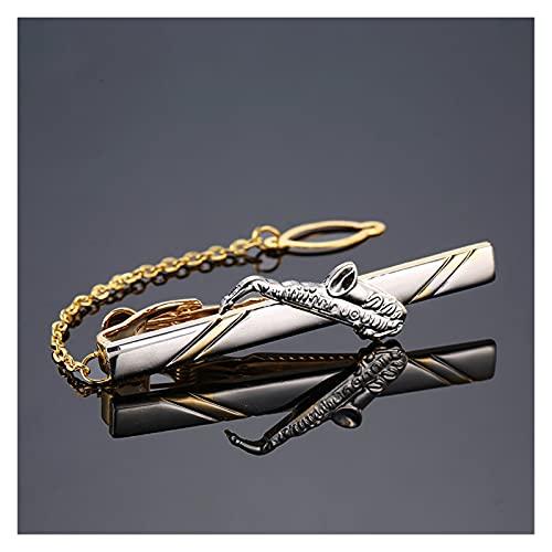 feichang Moda metal hombre corbata clip clip corbata clásico corbata clip clip clip clip pin pin delfín martillo avión barco boda corbata hombre joyería (metal color: 8)
