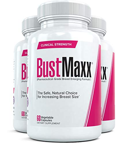BustMaxx (3 Bottles): The Most Trusted Breast Enhancement Supplement | Natural Bust Enlargement Pills for Breast Growth | Firms & Lifts Your Breasts, 60 Caps Each