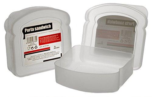 ARTE REGAL- Sandwichera Plástico, Color Transparente (Arteregal 26784)
