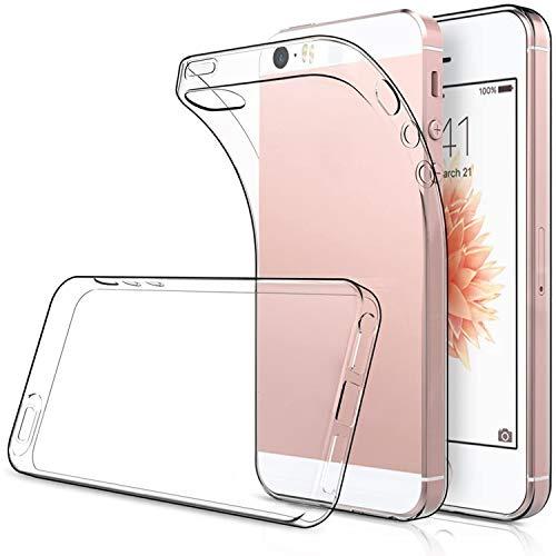 Simpeak [2Pcs] 2 Packs Funda Compatible con iPhone SE(2017) 5s 5, Funda Compatible con iPhone SE 5s 5 Carcasa Compatible con iPhone 5S / 5 / SE Funda Silicona TPU (4,0 Pulgadas), HD Clara