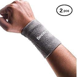Senston Men's Sports Wristband Sweatband Fitness Wristbands Wrist SweatbandsTennis Wristbands for Football Basketball Badminton