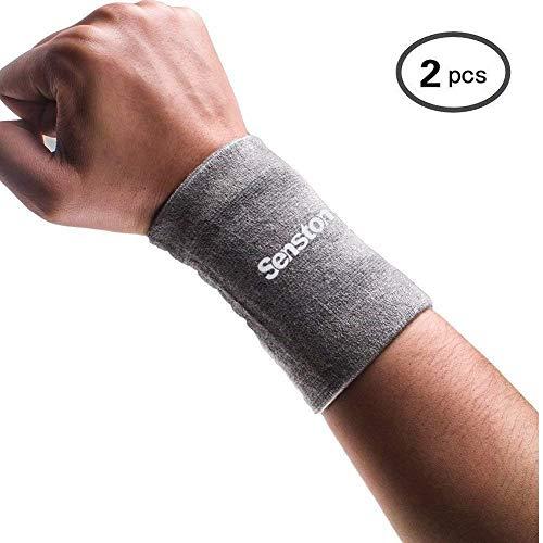 Senston Herren Sports Armband Schweißband Fitness Schweissbänder Handgelenk SweatbandsTennis Wristbands für Fußball Basketball Badminton