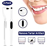 Zahnsteinentferner Zahnsteinentfernung Professionelle Zahnreinigung Interdentalbürsten Zahnpolierer-Effektive Zahnarztbesteck,Rutschfest in der Hand,Teeth Stain Remover(2-Pack), MEHRWEG