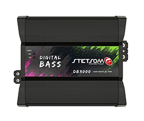 Stetsom DB 3000 1 Ohm Digital BASS Amp 3K Watts RMS Car Audio Class D Mono Amplifier